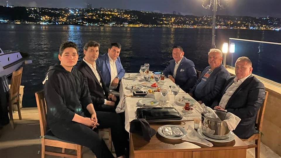 Demokrat Parti Genel Başkanı Gültekin Uysal, İşadamı Cengiz Aygün'ü ziyaret etti