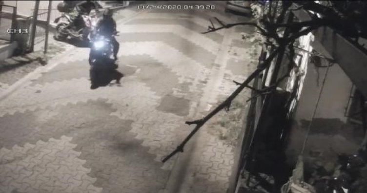 Ataşehir'de motosikletleri böyle çaldılar