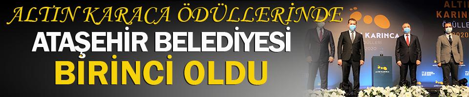Ataşehir Belediyesi Altın Karaca'da birinci oldu