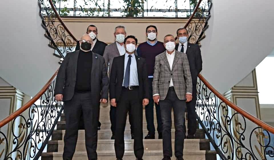 İYİ Parti İl Başkanı Buğra Kavuncu'dan Başkan İlgezdi'ye ziyaret