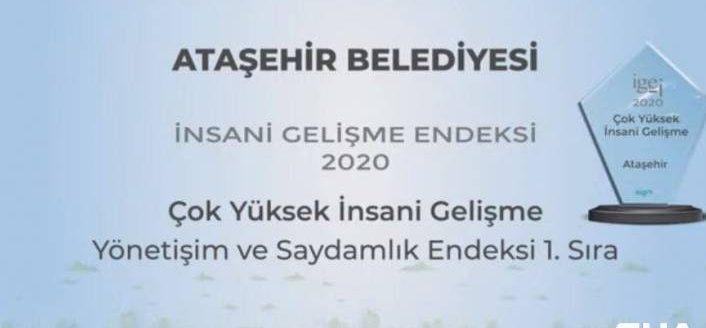 Ataşehir Belediyesine çok yüksek insani gelişme ödülü