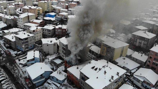 Ataşehir'de patlama! Korku dolu anlar