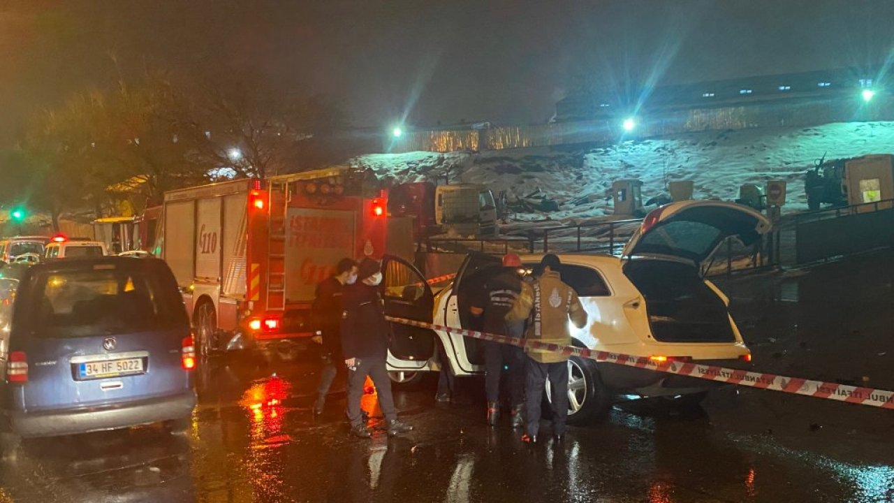 Ataşehir'de feci kaza: Kafa kafaya girdiler!