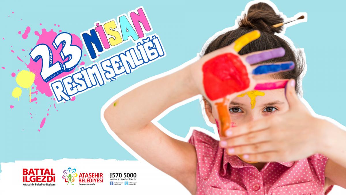 Ataşehir'li çocuklar 'çocuk bayramını' resmediyor