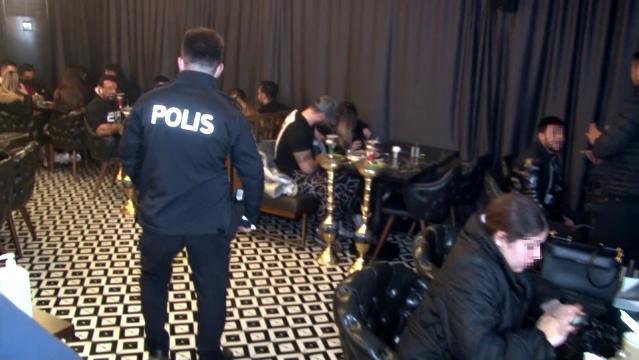 Ataşehir'de nargile ve okey faslına polis baskını